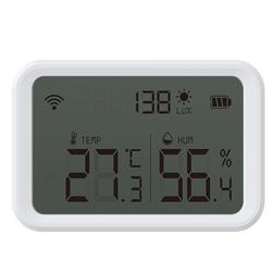 Czujnik temperatury wilg. oświetlenia ZigBee TUYA