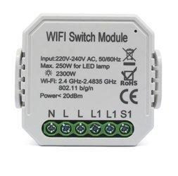 Przekaźnik dopuszkowy WiFi z pomiarem 10A Tuya